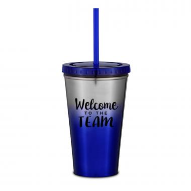 Welcome to the Team 16oz Ombre Straw Tumbler