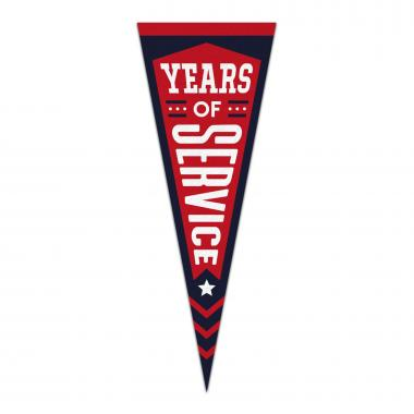 5 Years of Service Praise Pennant