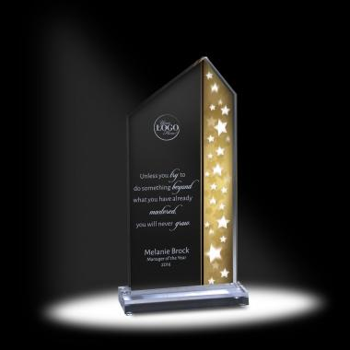 Star-Field Acrylic Champagne Award