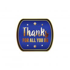 Appreciation Pins - Thanks for All You do Blue Lapel Pin