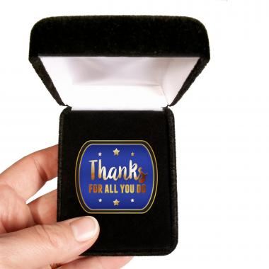 Thanks for All You do Blue Lapel Pin