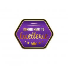 Excellence Pins - Commitment to Excellence Purple Lapel Pin