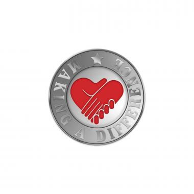 Making a Difference Heart Lapel Pin