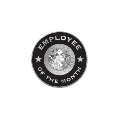 Diamond Employee of the Month Lapel Pins