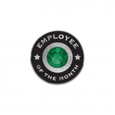 Emerald Employee of the Month Lapel Pins