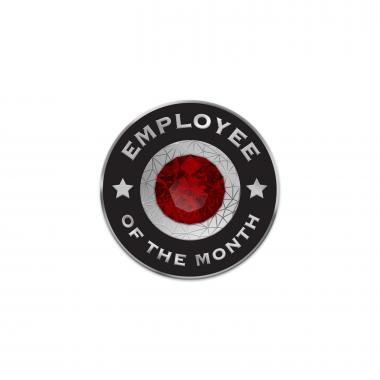 Ruby Employee of the Month Lapel Pins