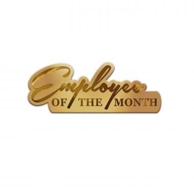 Employee of the Month Gold Lapel Pin