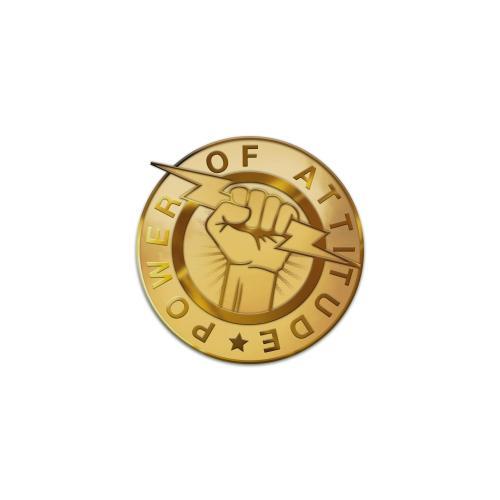 Power of Attitude Lapel Pin
