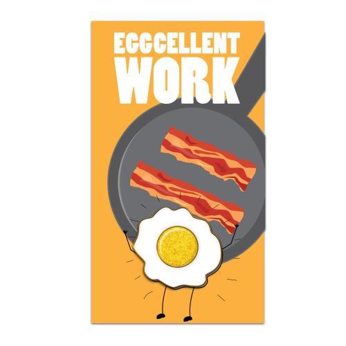 Eggcellent Work Lapel Pin