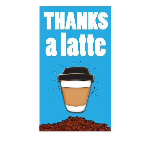 Thanks A Latte Lapel Pin