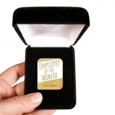 Employee of the Month Personalized Lapel Pin