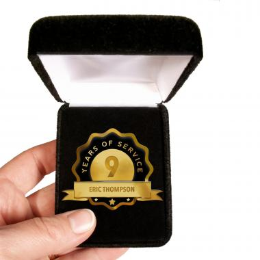 Custom Service Black Lapel Pin Award
