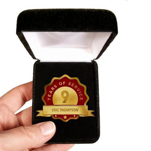 Custom Service Red Lapel Pin Award