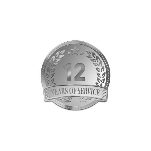Personalized Service Silver Laurel Wreath Lapel Pin