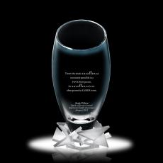 Glass Trophies - Rising Star Vase