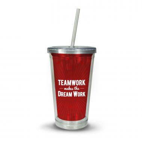 Teamwork Dream Work Acrylic Straw Tumbler