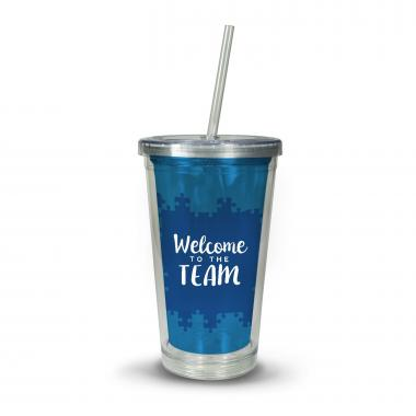 Teamwork Dream Work Acrylic Straw Tumbler