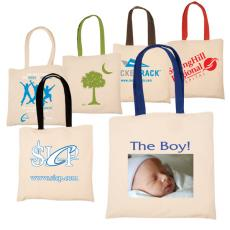 Tote Bags General - Eco-Responsible<sup>™</sup>;Econo - Natural cotton tote with contrasting handles, an Eco-Responsible<sup>™</sup> product