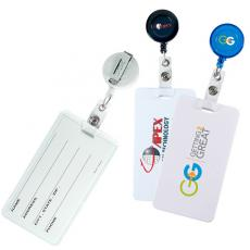 Tradeshow & Event Supplies - Hi-Flyer;Retract-A-Badge - Round badge and luggage tag combo