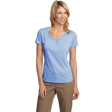 Port Authority<sup>&reg;</sup>;Silk Touch<sup>&trade;</sup> - XS-XL -  Ladies' interlock scoop neck shirt