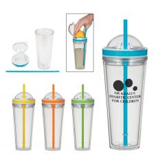 Sports / Collapsible Bottles - 20 Oz. Juicer Tumbler With Straw