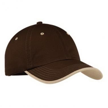 Port Authority<sup>&reg;</sup> - Unstructured vintage washed contrast stitch cotton twill cap. Blank