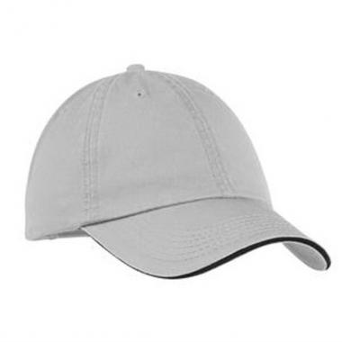 Port & Company<sup>&reg;</sup> - Cotton washed twill sandwich bill cap. Blank