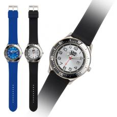 Fashion Accessories - Corporate Casual - Analog watch with stainless steel case, Japanese quartz movement and silicone band