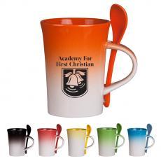 Ceramic & Coffee Mugs - 10 Oz. Gradient Spoon Mug