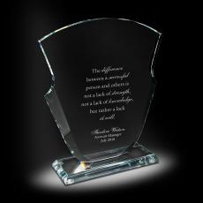 Glass Trophies - Spade Glass Award