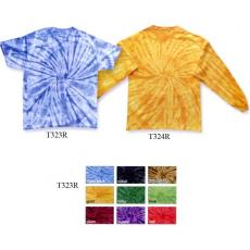 T-Shirts - Youth, 100% cotton, spider design, tie dye t-shirt. Blank