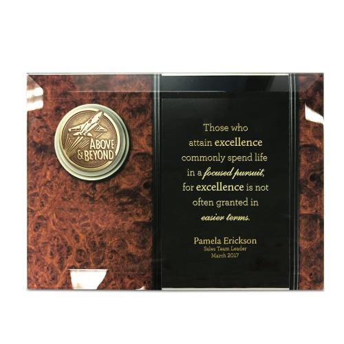 Glass Plaque Medallion Award