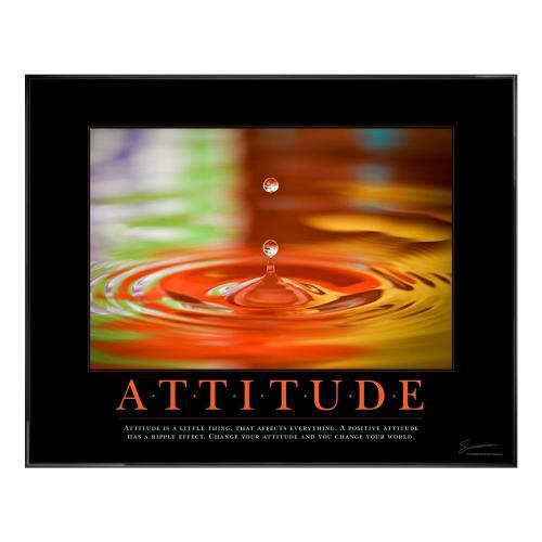 Attitude Rainbow Drop Motivational Poster