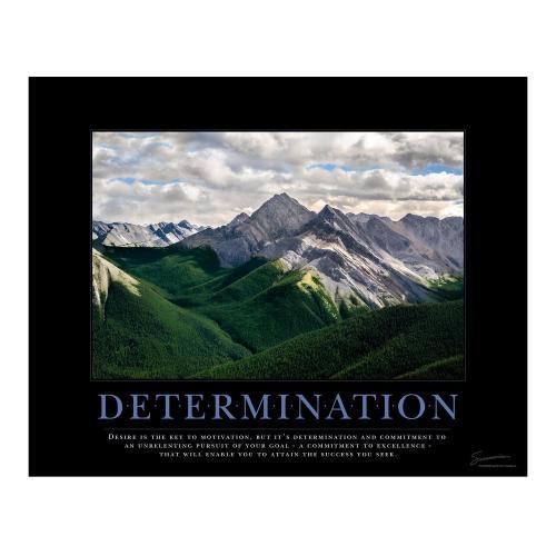 Determination Mountain Motivational Poster