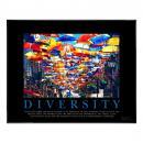 Diversity Umbrellas Motivational Poster