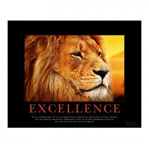 Excellence Lion Motivational Poster