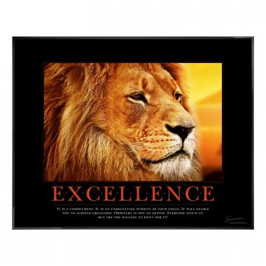 Excellence Lion Motivational Poster