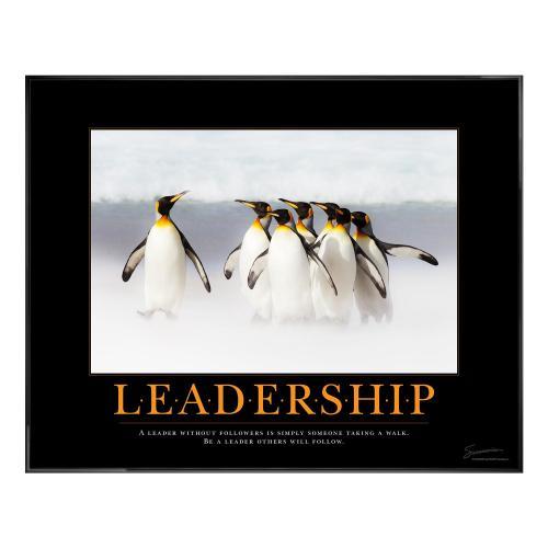 Leadership Penguins Motivational Poster
