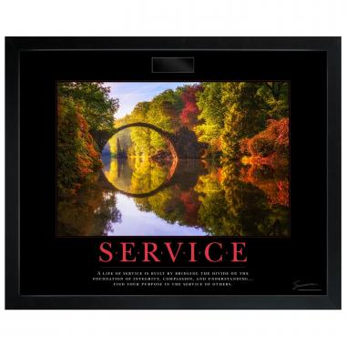 Service Bridge Motivational Poster