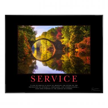 Service Bridge Motivational Poster