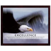 Excellence Eagle Unmatted Framed Motivational Poster