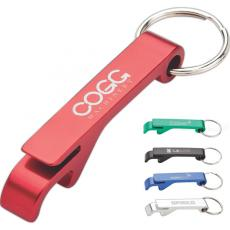 Key Holders General - Bottle opener keyring with can tab lifter