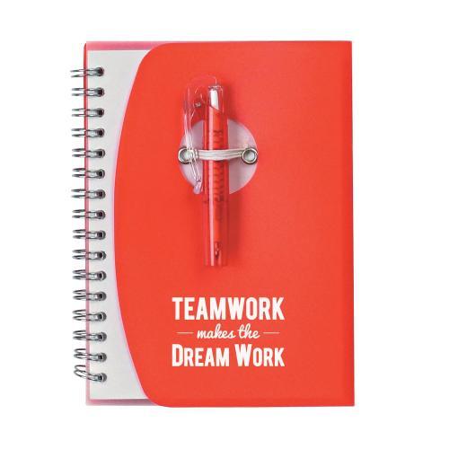 Teamwork Dream Work Notebook and Pen