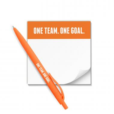 One Team One Goal Praise Pad and Pen Set