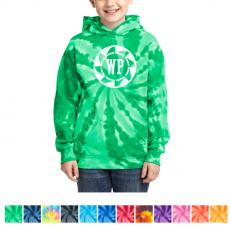 Youth - Port & Company® Youth Tie-Dye Pullover Hooded Sweatshirt
