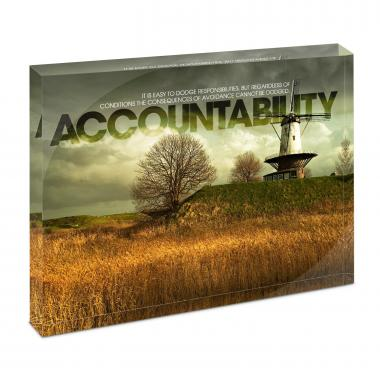 Accountability Windmill Infinity Edge Acrylic Desktop