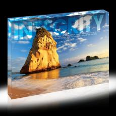 Modern Motivation - Integrity Rock Infinity Edge Acrylic Desktop