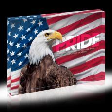 Pride Eagle Infinity Edge Acrylic Desktop
