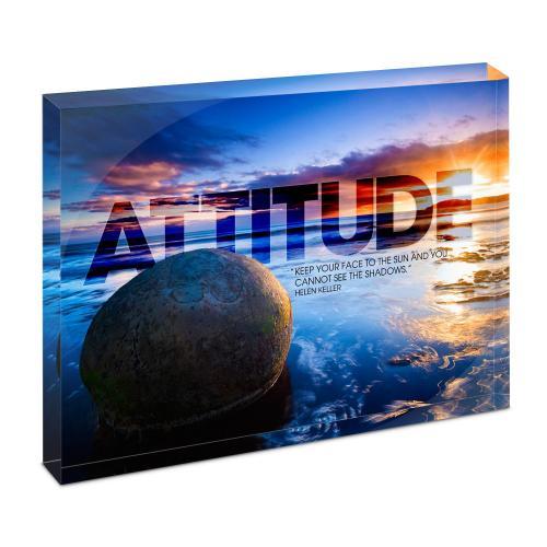 Attitude Boulder Infinity Edge Acrylic Desktop