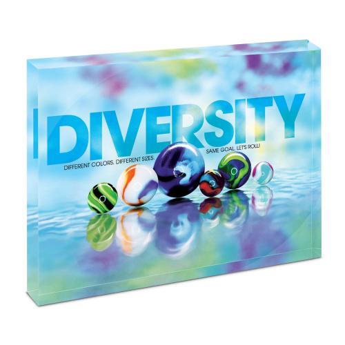 Diversity Marbles Infinity Edge Acrylic Desktop